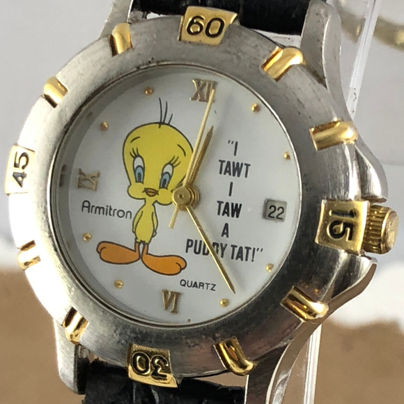Armitron Other - Vintage Tweety Bird Date Watch 2 Tone Black Strap